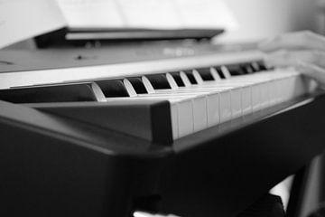 Klavier in Schwarz-Weiß von Dominique Van Gerwen