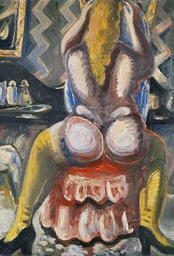 Akt auf rotem Sessel, PAUL KLEINSCHMIDT, 1949 von Atelier Liesjes