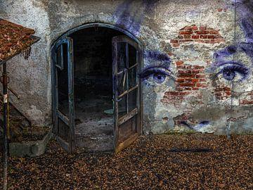 Bienvenue dans la maison hantée - le visage bleu sur Christine Nöhmeier