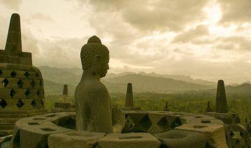 Borobudur in de buurt van Yogjakarta, Indonesië van Sven Wildschut