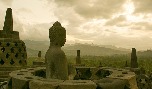 Borobudur in de buurt van Yogjakarta, Indonesië