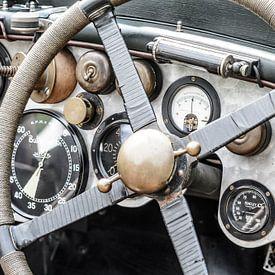 Gebürstetes Bentley Armaturenbrett aus Aluminium der 1920er-Jahre von Sjoerd van der Wal Fotografie