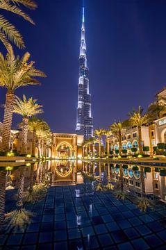 Burj Khalifa by night sur Bob de Bruin
