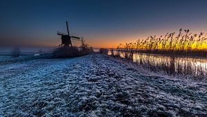 Warme kleuren bij de Hollandse Molen van René Groenendijk