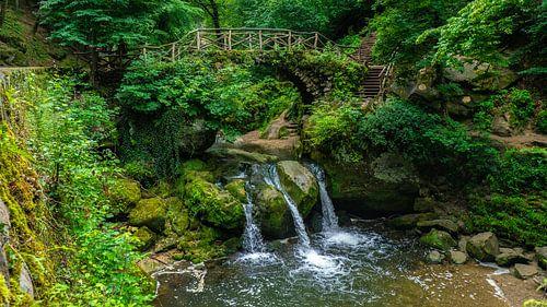 Schiessentümpel waterval bij Mullerthal, Luxemburg