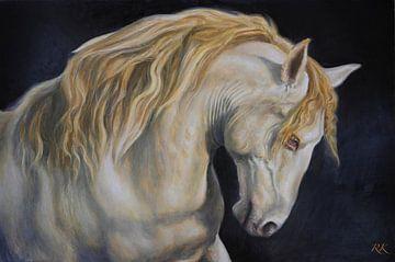 Goud paard van KB Prints
