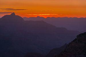 Zonsopkomst boven de Grand Canyon, Noord Amerika