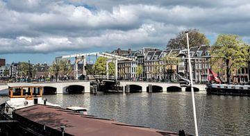 Panorama Magere brug Amsterdam van Peter Bartelings Photography