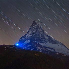 Nachtfoto Matterhorn van Anton de Zeeuw