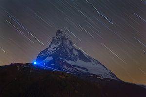 Nachtfoto Matterhorn van