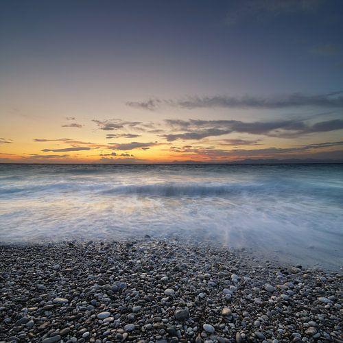 Greek Sunset van Martijn Schornagel