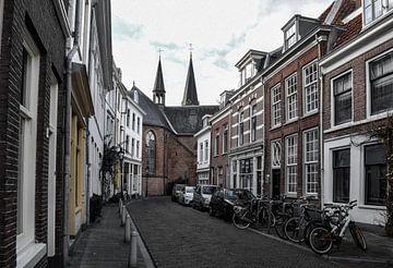 Straat in Utrecht van Kim de Been