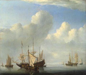 Ein niederländisches Schiff kommt vor Anker, Willem van de Velde