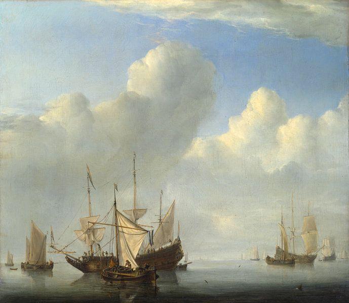 Ein niederländisches Schiff kommt vor Anker, Willem van de Velde von Meesterlijcke Meesters