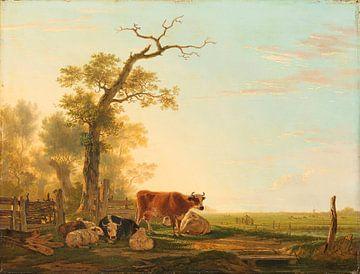 Wiesenlandschaft mit Tieren, Jacob van Strij