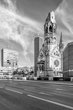 BERLIN Kaiser-Wilhelm-Gedächtniskirche | Monochrom von Melanie Viola