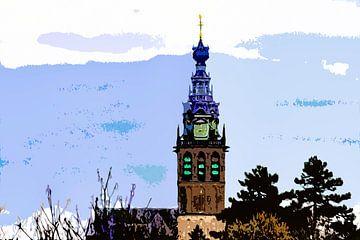 Cut-out foto van de Stevenskerk in Nijmegen