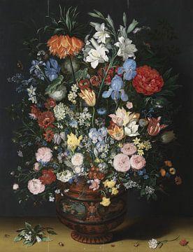 Bloemen in een vaas, Jan Brueghel I sur Meesterlijcke Meesters