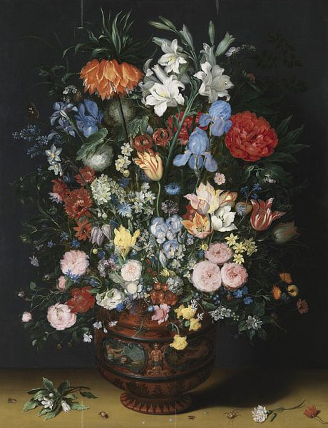 Bloemen in een vaas, Jan Brueghel I van Meesterlijcke Meesters