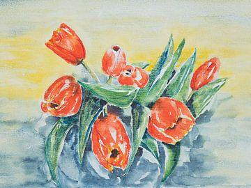Tulpen van de markt van Monique Londema