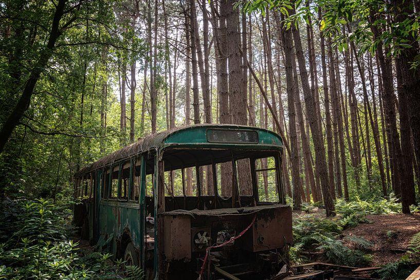 Verlaten bus in het bos van Maikel Brands