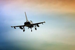 Eurofighter kleurrijke hemel van