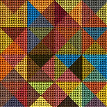 Driehoeken no.25 van Marion Tenbergen