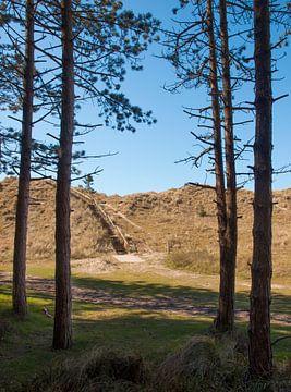 Doorkijkje naar duin met trap, Terschelling von Rinke Velds