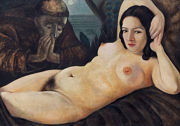 Vision des Heiligen Antonius in Padua (Diptychon) - 1 von 2, Anita Rée, 1930 von Atelier Liesjes