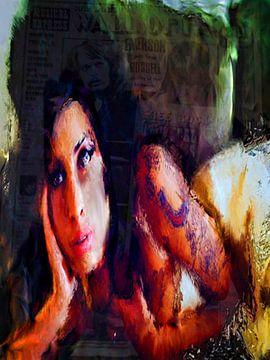 Amy Winehouse Amy Winehouse Pop Art van Leah Devora