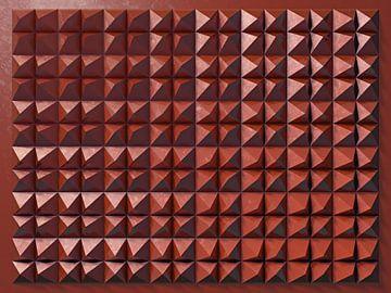 Reliëf 2016 C2 Rood Metallic van Frans Blok