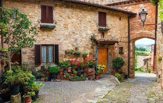 Italien , Toskana , Mediterrane Gasse