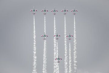 Luchtshow Frecce Tricolori van John Ouwens