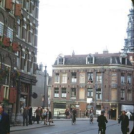 Straatbeeld 50s Amsterdam van Jaap Ros