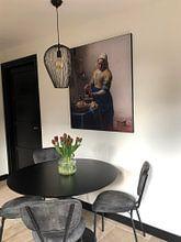 Kundenfoto: Dienstmagd mit Milchkrug - Vermeer gemälde, als akustikbild