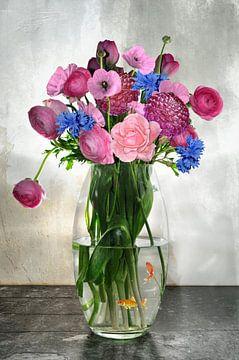Boeket bloemen van Jeannette Penris