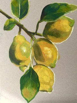 When life gives you Lemons, paint them van Helia Tayebi Art