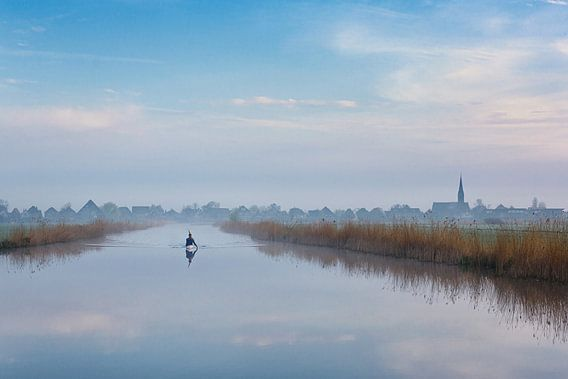 Kayaking in Wormers landschap van Pieter Struiksma