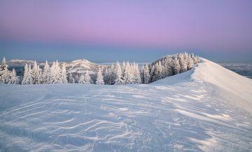 Dageraad in de bergen van Andreas Föll