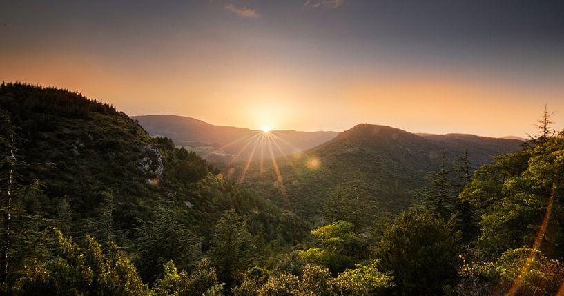 Sunset in Southern France van Mark Zanderink