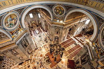 De Sint-Pietersbasiliek in Rome van Damien Franscoise