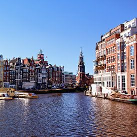 Stadsfoto Amsterdam rivier De Amstel Munttoren van Ipo Reinhold