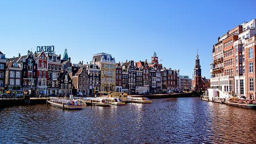 Stadsfoto Amsterdam rivier De Amstel Munttoren