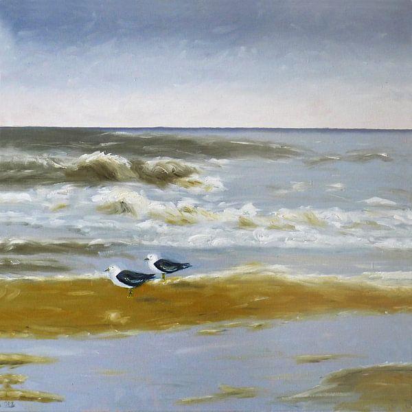 Strand #1 van Jan Wiersma