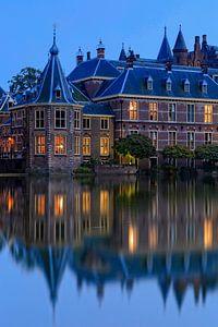 avondopname van het Torentje van de Minister-President in Den Haag