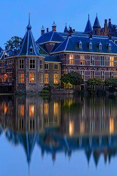 avondopname van het Torentje van de Minister-President in Den Haag van