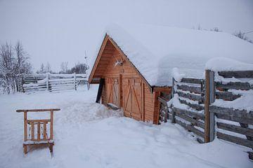 Lapland schuur van een Sami van Lucas Planting