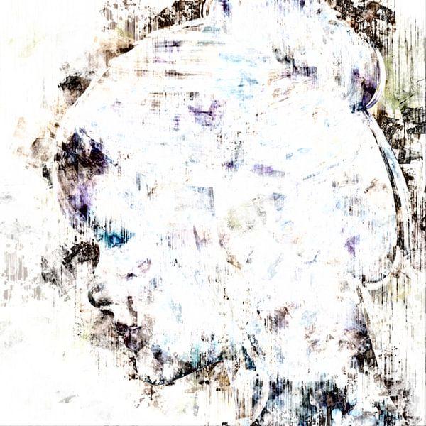 Abstract portret vrouw van Maurice Dawson