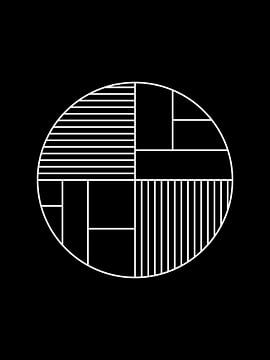 Minimal Geometry Circle Print van MDRN HOME