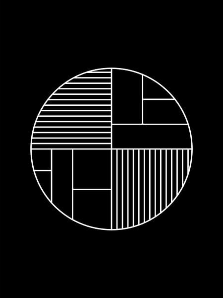 Minimaler Geometrie-Kreisdruck von MDRN HOME